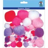 """Ursus - Pompon-set """"PLÜSCH"""", Pink/LILA 39500003"""