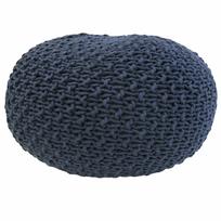 Overseas - Pouf tricoté 30 x 50 cm Denim
