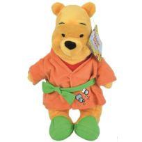 Nicotoy - Peluche Disney Winnie l'Ourson En Peignoir Orange Et Vert 31 Cm