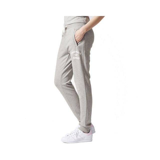 pantalon adidas gris femme