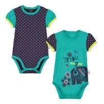 Petit Beguin - Lot de 2 bodies manches courtes bébé fille Matribu - Taille - 9 mois 74 cm