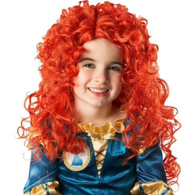 Longue perruque rousse frisee, mérida - pas