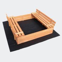 Aqua Occaz - Bac à sable 2 bancs pour jeu de jardin -051063