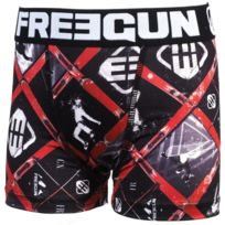 Freegun - Sous vêtement boxer Ski blanc boxer jr Noir 20501