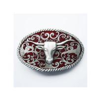 0033ddf54987 Universel - boucle de ceinture tete d indien bison noir country ...