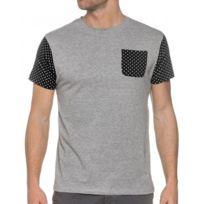 Bellfield - Tee Shirt Gris Avec Motifs Pois