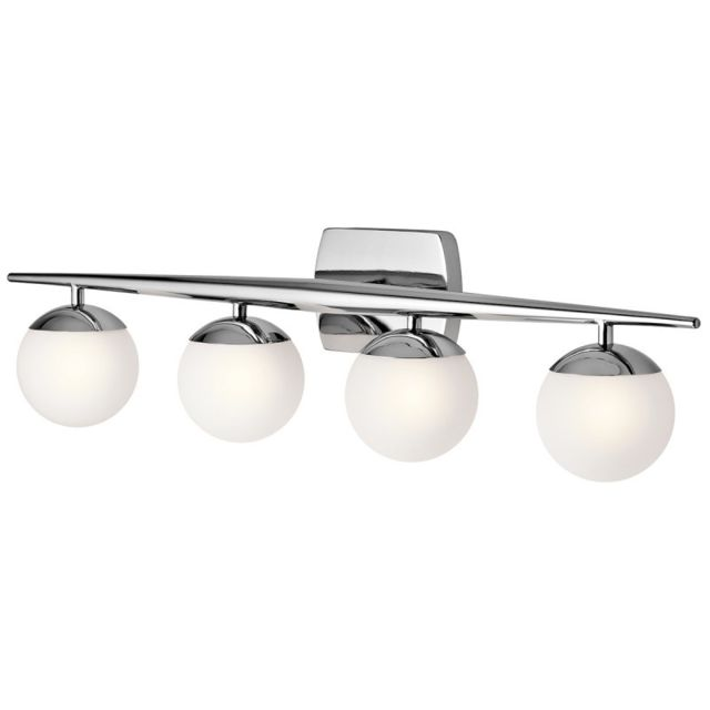 Elstead Lighting Applique Jasper, chrome poli, verre opale, 4 Led