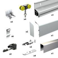 Wimove - Pack Premium volets coulissants 2 vantaux - Rail 3 m - 80 kg