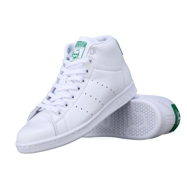Adidas Basket adidas originals stan smith mid – bb0069 Blanc | Adidas Stan Smith Homme Blanc