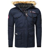 Geographical Norway - Parka hiver Parka Barely bleu marine