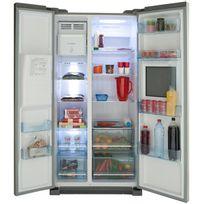 réfrigérateur américain 90.8cm 550l a+ no frost alu/inox - hrf-628af6