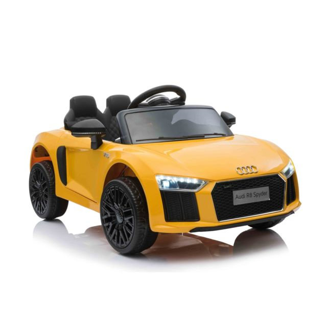Beneo Voiture électrique Audi R8 Small, jaune, sous licence d'orig