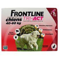 Frontline - Pipettes Antiparasitaire Tri-Act pour Chien de 40 à 60Kg - 3x6ml