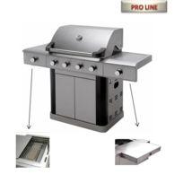 Cross Outdoor - Barbecue Excellum 4+2 en acier inox + plancha