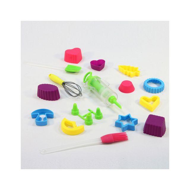 B&W Kit moules à gateaux 15 pièces - Silicone - Vert