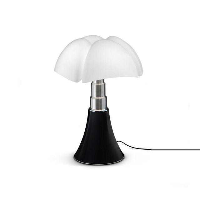 Martinelli Luce Mini Pipistrello - Lampe Noir Dimmer Touch Led H35cm - Lampe à poser designé par Gae Aulenti