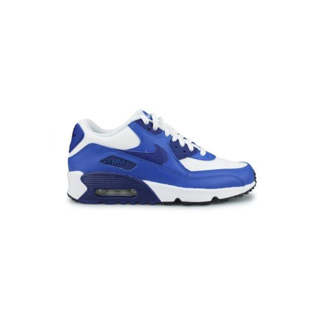 d71ccaba9cf5e Nike - Basket Air Max 90 Ltr Junior Blanc 833412-105 - pas cher Achat   Vente  Baskets enfant - RueDuCommerce