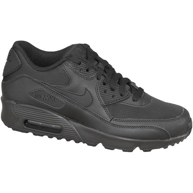online store 60e48 e61ce Nike - Air Max 90 Mesh Gs 833418-001 Noir