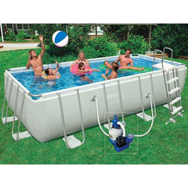 intex piscine tubulaire rectangulaire 5 49 x 2 74 x 1. Black Bedroom Furniture Sets. Home Design Ideas