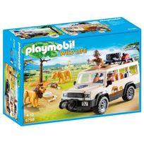 PLAYMOBIL - Aventuriers avec 4x4 et couple de lions - 6798