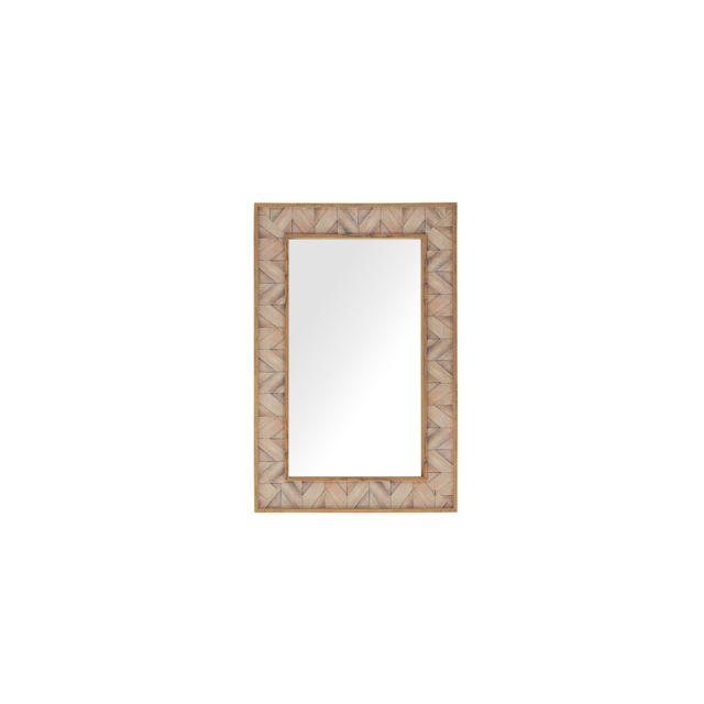 BELIANI Miroir mural marron clair 60 x 90 cm ROSNOEN - marron clair