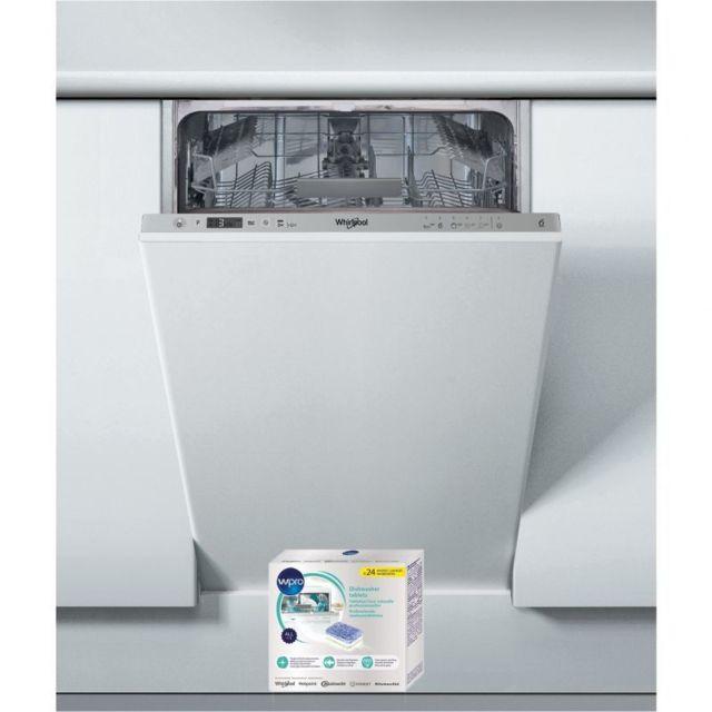 Whirlpool Lave-vaisselle tout intégrable encastrable 47dB A+ 10 Couverts 45cm 6eme sens