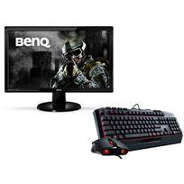 BENQ - Ecran 24'' LED 2ms Full HD VGA, DVI, HDMI, HP - GL2450HE + Devastator 2 RED