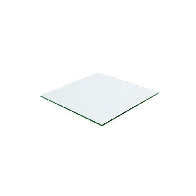 Meubletmoi Plateau carré 80x80 en verre trempé transparent