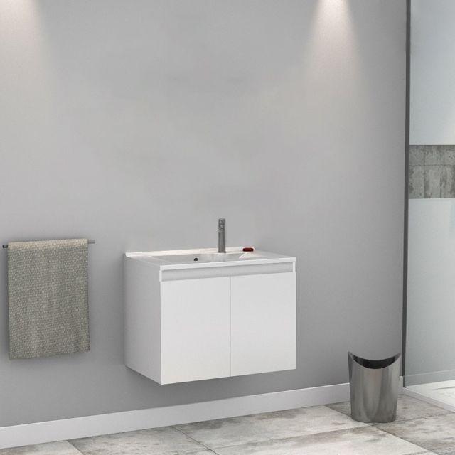Creazur Caisson simple vasque Proline 70 - Blanc brillant