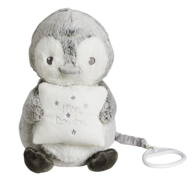 TEX BABY - Doudou musical pingouin - pas cher Achat   Vente Doudous ... 9012ce44ae7c