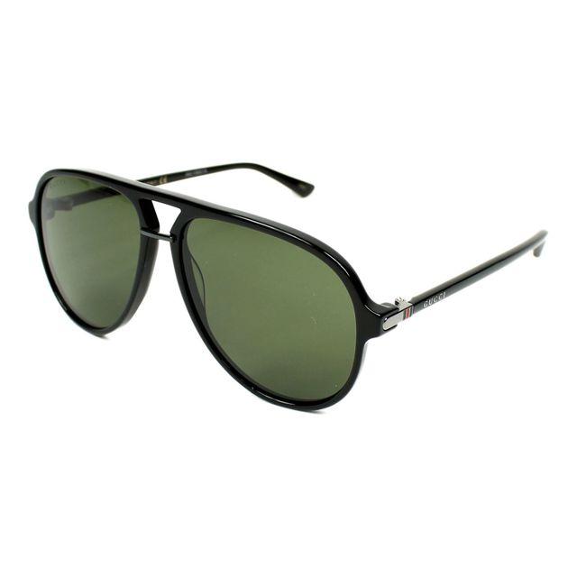 Gucci Lunettes de soleil Gg 0015 S 001 Homme Noir pas