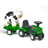 Falk / Falquet - Porteur tracteur Baby Farm Mustang 350S avec remorque et vache