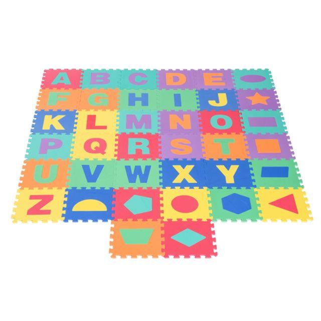 Homcom Tapis De Jeu En Mousse Puzzle Pour Enfants 38 Pieces
