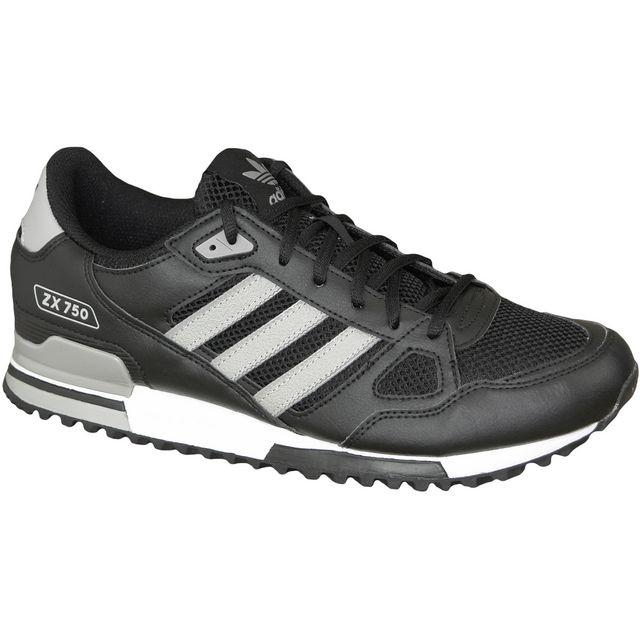 Adidas - Zx 750 S76191 Noir 42 - pas cher Achat / Vente Baskets homme - RueDuCommerce