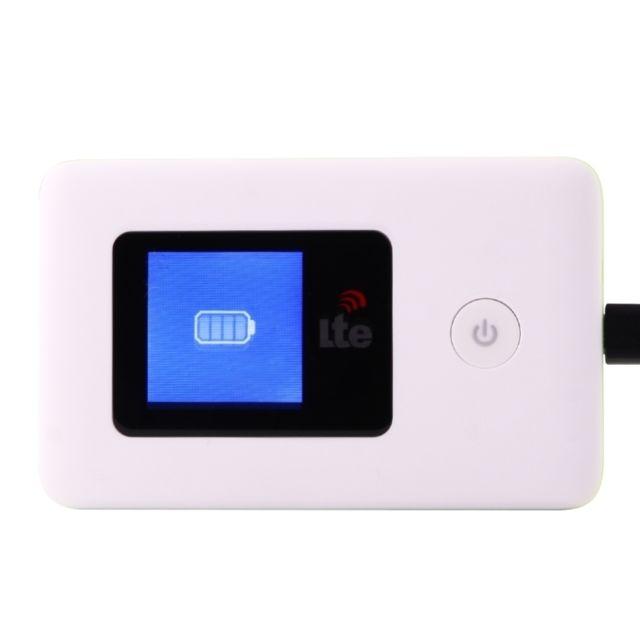 wewoo routeur blanc 100mbps 4g lte sans fil wifi avec cran lcd signe livraison al atoire. Black Bedroom Furniture Sets. Home Design Ideas