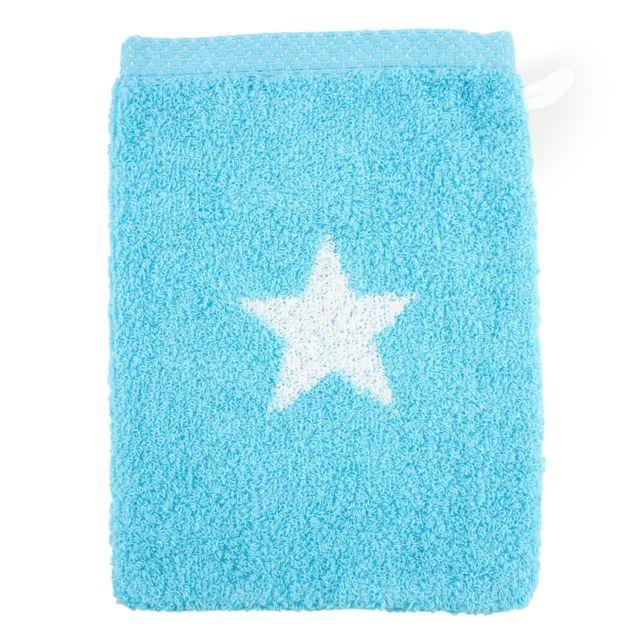 Gant de toilette turquoise 16 x 21 cm