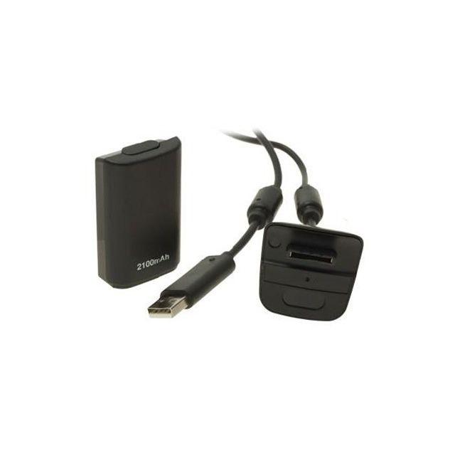 Console Xbox 360 Carrefour: Pour Xbox 360 Noir Batterie Rechargeable 2100mAh