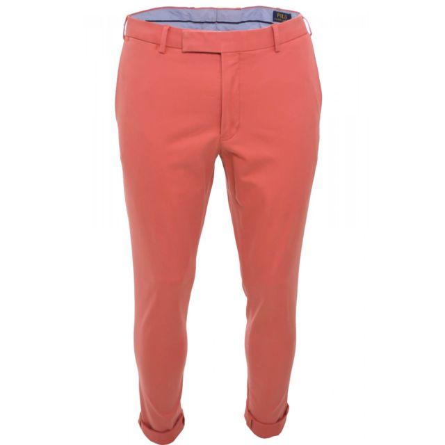 499265f42260a Ralph Lauren - Pantalon chino rose saumon pour homme - pas cher ...