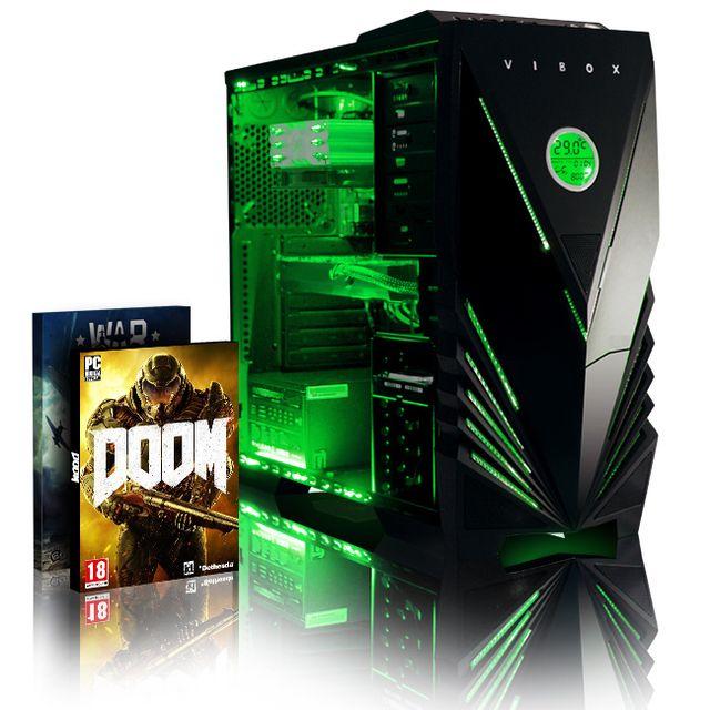VIBOX Processeur CPU Six 6-Core AMD FX - Carte Graphique Radeon RX 460 2 Go - 8 Go RAM - Disque Dur 1 To - Pas de Windows