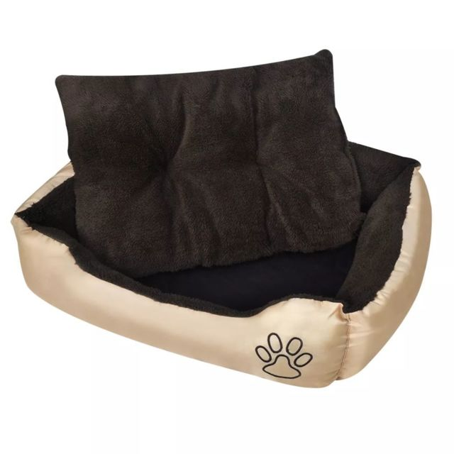 vidaxl lit pour chien taille xxl beige et marron pas cher achat vente equipement de. Black Bedroom Furniture Sets. Home Design Ideas