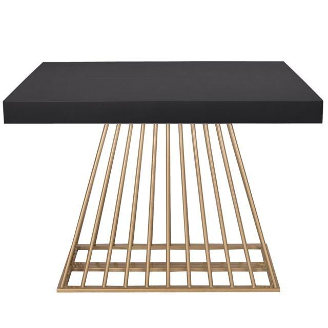 MENZZO Table extensible Solix Bois Noir