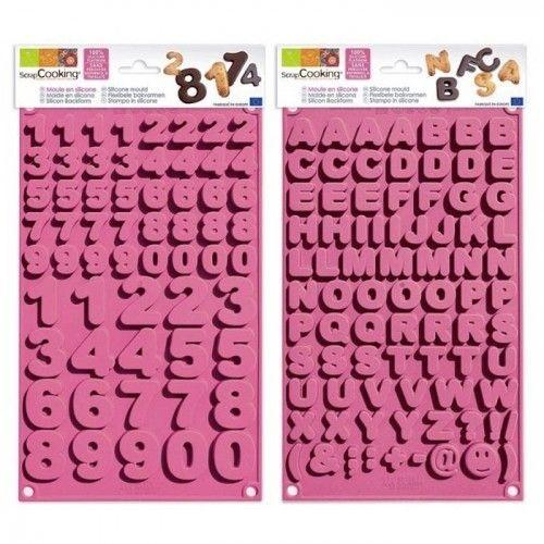 Scrapcooking Moules à chocolats alphabet & chiffres