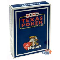 Poker Production - Jeu 52 cartes : Texas Poker Disco Bleu