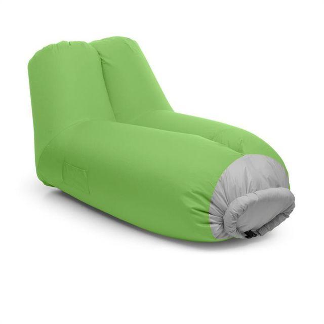 Blumfeldt airlounge canapé gonflable 90 x 80 x 150 cm sac à dos lavable vert