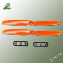 Gemfan - Hélice Slow Fly propulsive orange – 6 x 3 CW 2 pcs