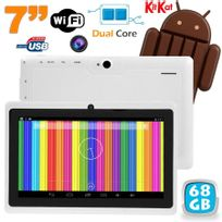 Yonis - Tablette tactile Android 4.4 KitKat 7 pouces Dual Core 68 Go Blanc