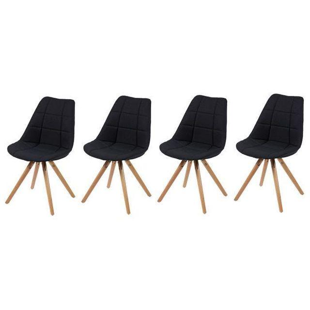 de a Aucune salle chaises bois Frida de pieds 4 manger Lot l1KcJTF