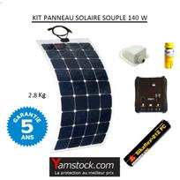 Antarion - Kit panneau solaire souple 140w pour camping car monocristallin