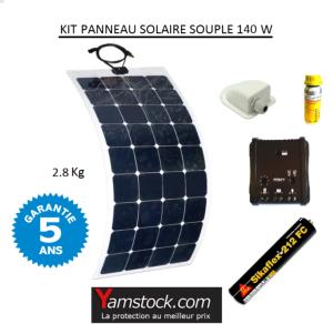 antarion kit panneau solaire souple 140w pour camping. Black Bedroom Furniture Sets. Home Design Ideas
