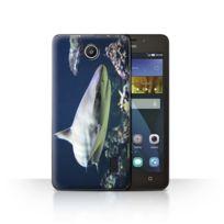 Coque De Coque Etui Housse Pour Huawei Y635 Requin Borde Design Faune Marine Collection